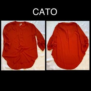 CATO Orange Blouse Medium